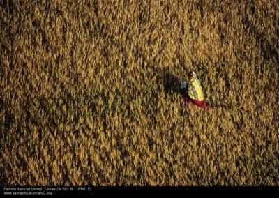 Femme dans un champ
