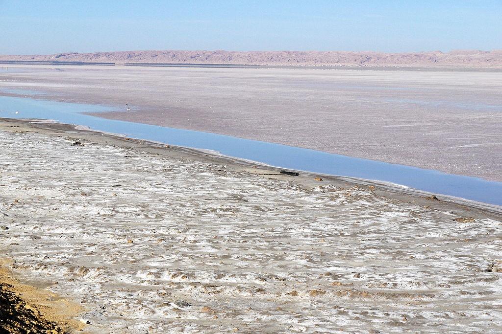 Les lacs salés de Chott el Jerid, en Tunisie